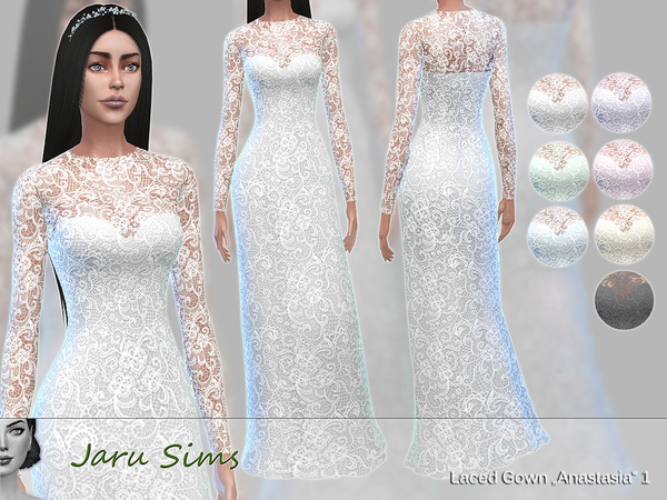 laced gown anastasia 1 by jaru sims at tsr 187 sims 4 updates