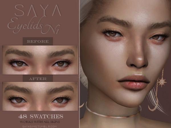 Sims 4 Eyelids N1 by SayaSims at TSR