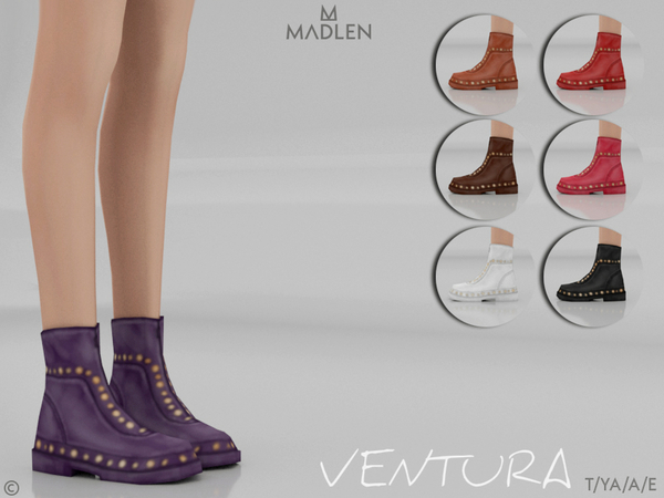 Sims 4 Madlen Ventura Boots by MJ95 at TSR