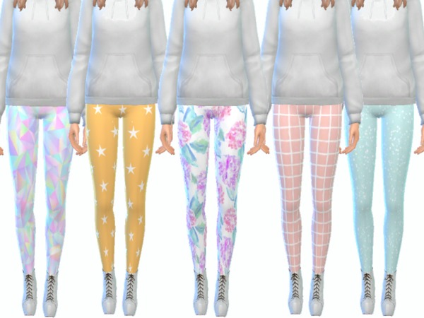 Tumblr Themed Leggings Pack Thirteen by Wicked Kittie at TSR image 3119 Sims 4 Updates