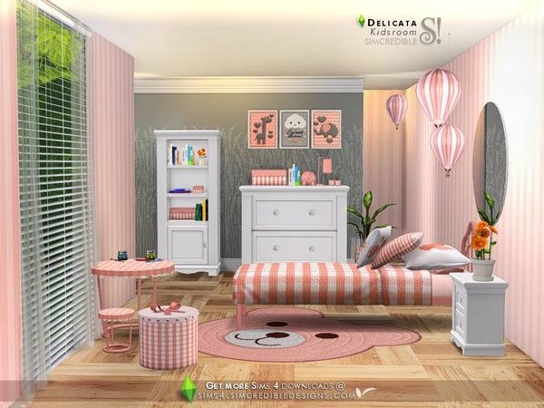 Sims 4 Delicata Kids room at TSR