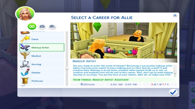 Sims 4 Makeup Artist Career 10 levels by KPC0528 at Mod The Sims