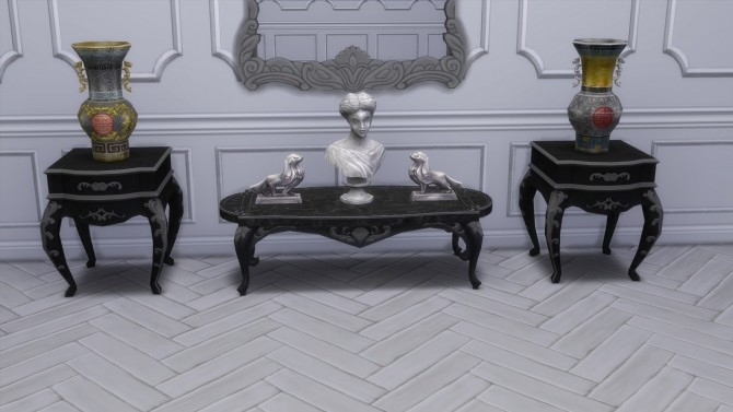 Sims 4 Dark Lux Coffee Tables from TS3 by TheJim07 at Mod The Sims