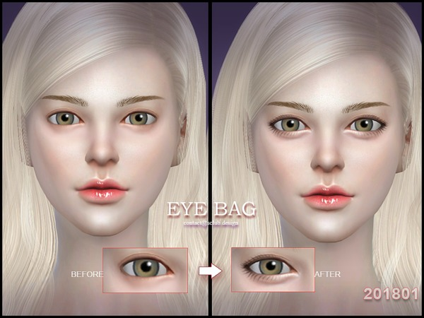 Eyebag 201801 by S Club LL at TSR image 3320 Sims 4 Updates