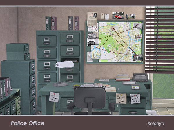 Police Office by soloriya at TSR image 339 Sims 4 Updates