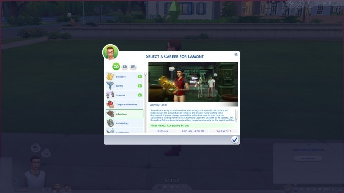 Sims 4 Jungle Adventurer Custom Career by DrAnimaniac at Mod The Sims