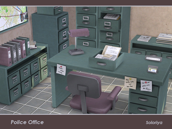 Police Office by soloriya at TSR image 348 Sims 4 Updates