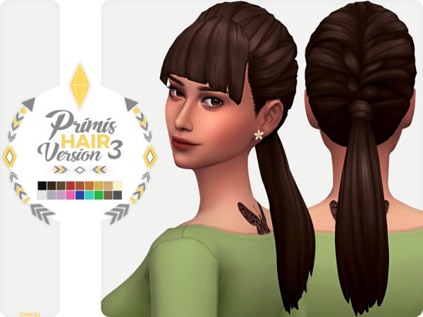 Sims 4 Primis Hair V3 by Nords at TSR