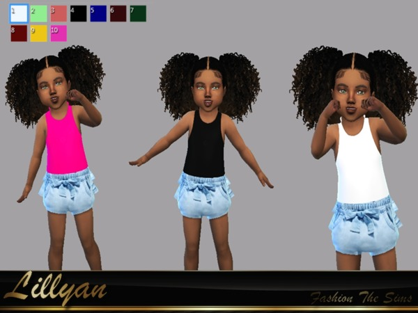 Sims 4 Toddler Outfit Sandy by LYLLYAN at TSR