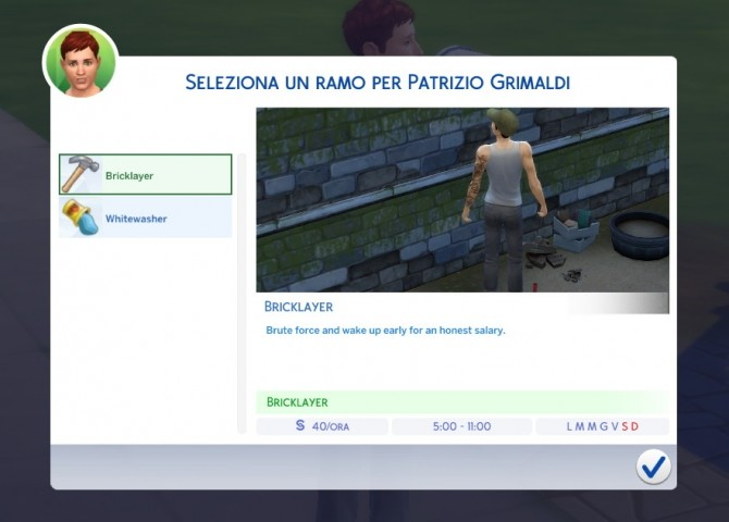 Sims 4 Manual Laborer Career by Daleko at Mod The Sims