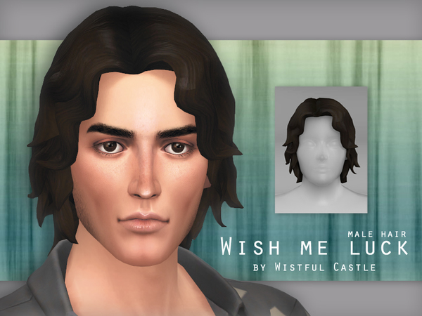Wish me luck male hair by WistfulCastle at TSR image 3617 Sims 4 Updates