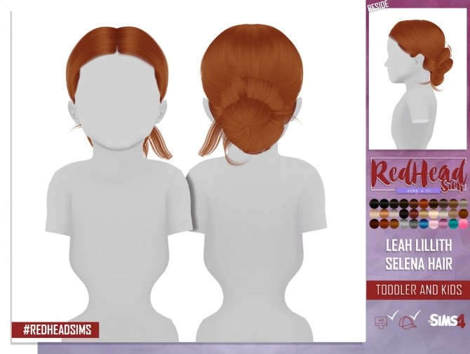 LEAH LILLITH SELENA HAIR KIDS AND TODDLER VERSION at REDHEADSIMS – Coupure Electrique image 362 670x504 Sims 4 Updates