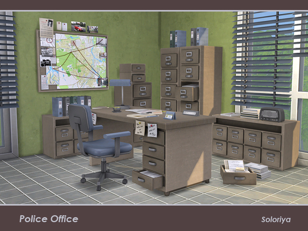 Police Office by soloriya at TSR image 369 Sims 4 Updates