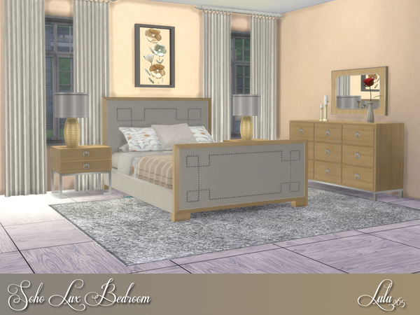Soho Lux Bedroom by Lulu265 at TSR image 3710 Sims 4 Updates