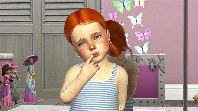 LEAH LILLITH SELENA HAIR KIDS AND TODDLER VERSION at REDHEADSIMS – Coupure Electrique image 372 670x377 Sims 4 Updates