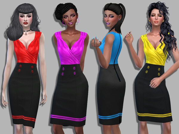 Anabelle dress by Simalicious at TSR image 380 Sims 4 Updates