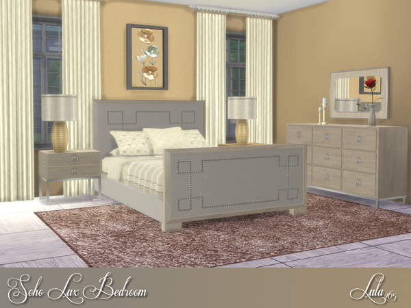 Soho Lux Bedroom by Lulu265 at TSR image 3810 Sims 4 Updates