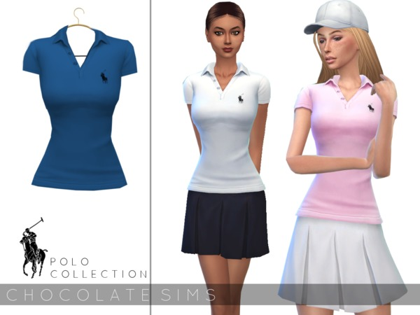 Polo Shirt by MissSchokoLove at TSR image 3816 Sims 4 Updates