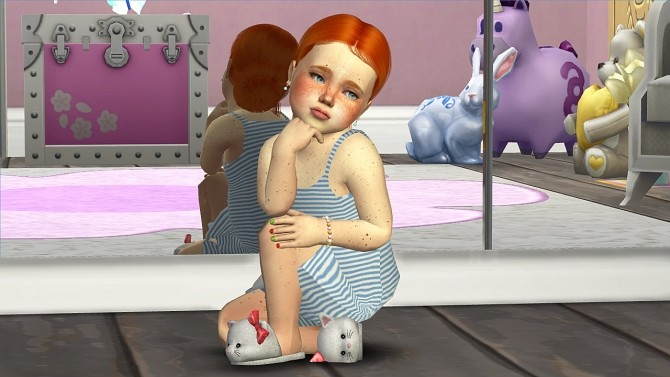 LEAH LILLITH SELENA HAIR KIDS AND TODDLER VERSION at REDHEADSIMS – Coupure Electrique image 382 670x377 Sims 4 Updates