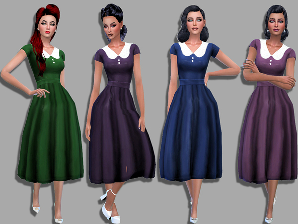 Audrey dress by Simalicious at TSR image 3917 Sims 4 Updates