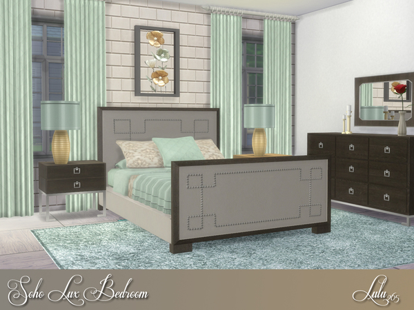 Soho Lux Bedroom by Lulu265 at TSR image 399 Sims 4 Updates