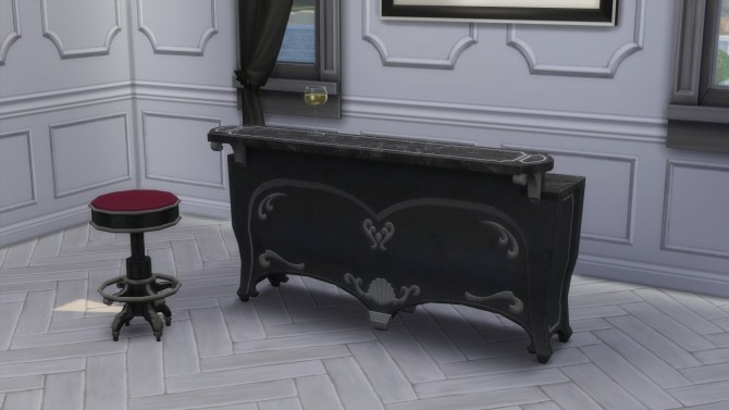 Sims 4 Dark Lux Bar & Barstool from TS3 by TheJim07 at Mod The Sims
