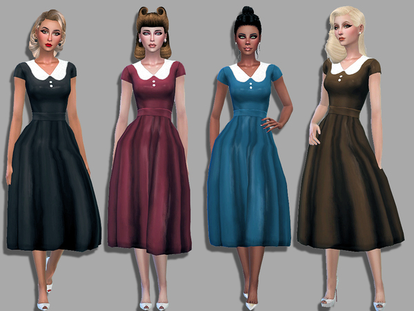 Audrey dress by Simalicious at TSR image 4017 Sims 4 Updates