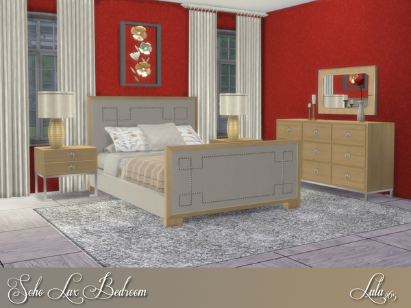 Soho Lux Bedroom by Lulu265 at TSR image 409 Sims 4 Updates