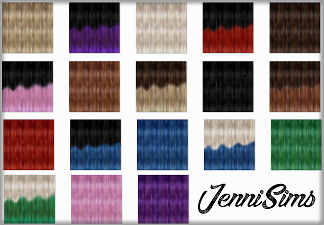 New Textures for retextured hair at Jenni Sims image 413 Sims 4 Updates