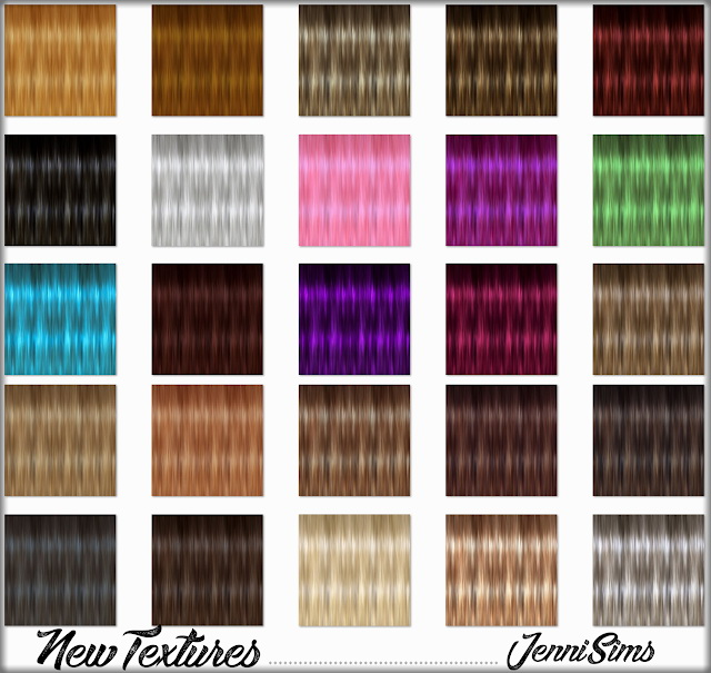 New Textures for retextured hair at Jenni Sims image 422 Sims 4 Updates