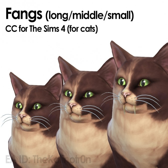 Fangs for small dogs and cats at Kalino image 428 670x670 Sims 4 Updates