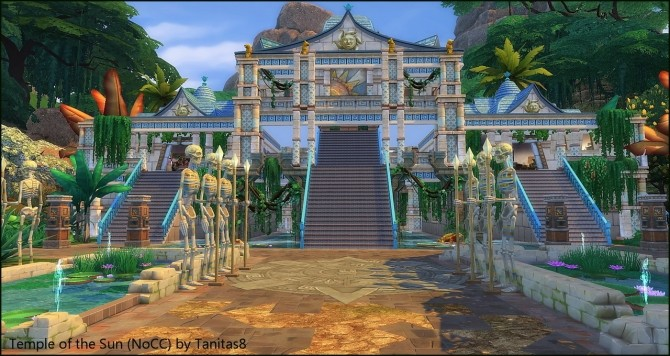 Sims 4 Temple of the Sun NoCC museum at Tanitas8 Sims