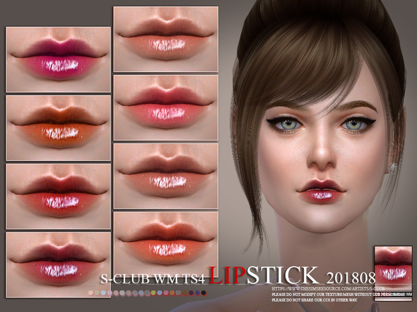 Lipstick 201808 by S Club WM at TSR image 4421 Sims 4 Updates