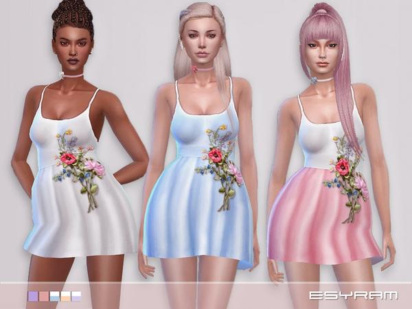 Sims 4 La robe fleurie by EsyraM at TSR
