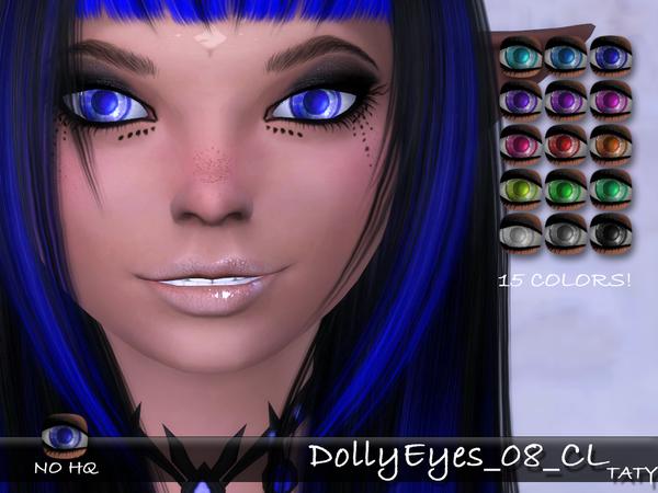 Sims 4 Dolly Eyes 08 CL by tatygagg at TSR