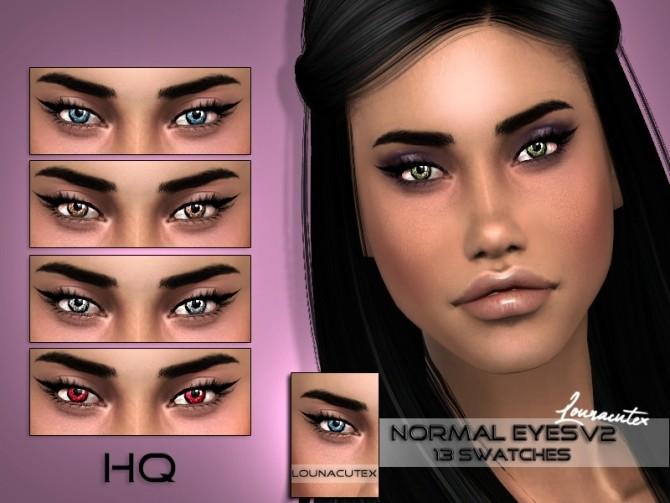 Sims 4 Normal Eyes V2 at Lounacutex