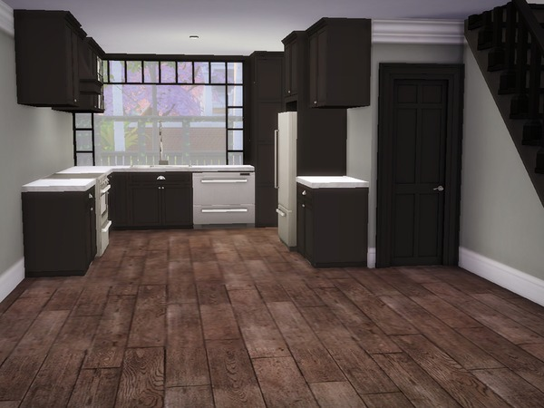 Sims 4 Modern Brick Townhouses by nelliechan6675 at TSR