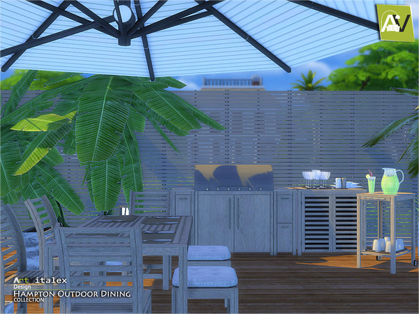 Hampton Outdoor Dining by ArtVitalex at TSR image 4611 Sims 4 Updates