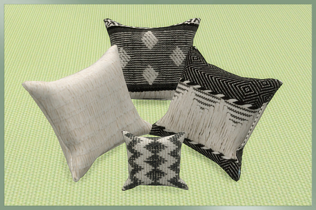 Trend Nomad Chic pillows by weckermaus at Blacky's Sims Zoo image 462 Sims 4 Updates