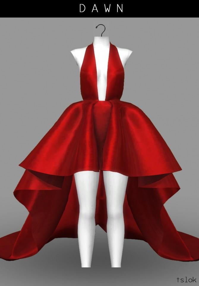 Dawn satin high low dress at TSLOK image 464 670x961 Sims 4 Updates