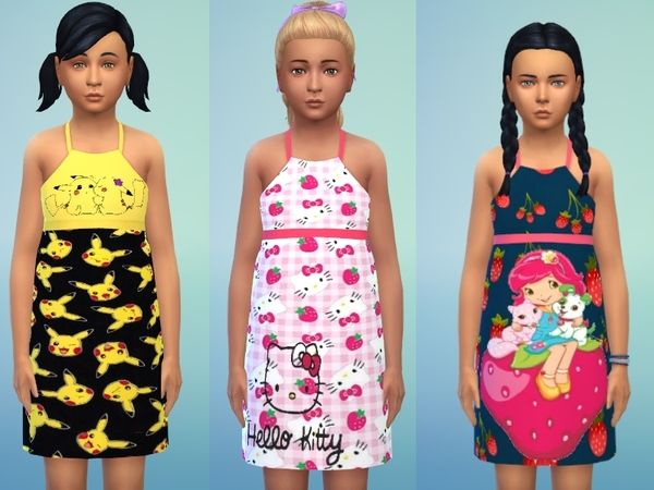 Sims 4 Summer dress for girls by Louisa 1 at TSR