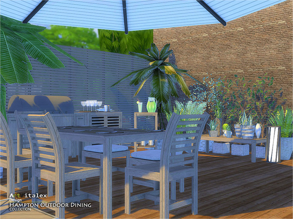 Hampton Outdoor Dining by ArtVitalex at TSR image 4711 Sims 4 Updates