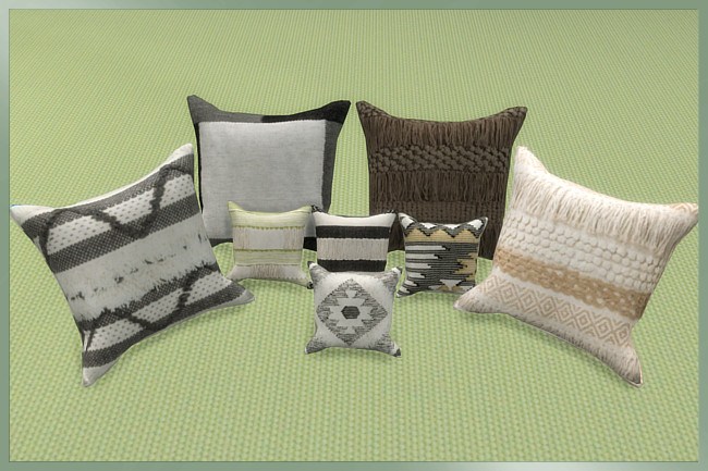 Trend Nomad Chic pillows by weckermaus at Blacky's Sims Zoo image 472 Sims 4 Updates