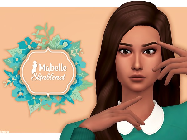 Sims 4 Mabelle Skinblend (Mouth Crease) by Nords at TSR