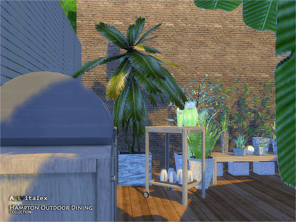 Hampton Outdoor Dining by ArtVitalex at TSR image 4811 Sims 4 Updates