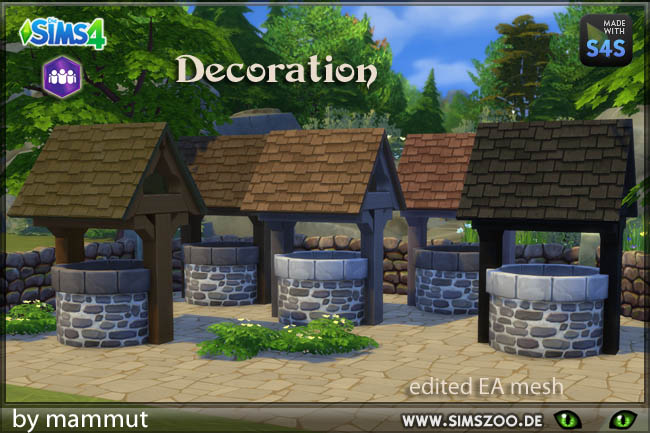 Sims 4 Deco fountain by Mammut at Blacky's Sims Zoo