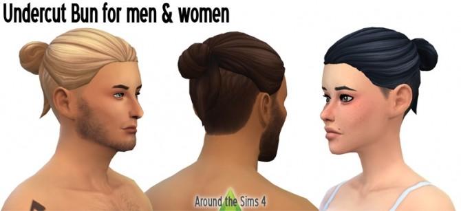Undercut Bun Hair at Around the Sims 4 image 504 670x307 Sims 4 Updates