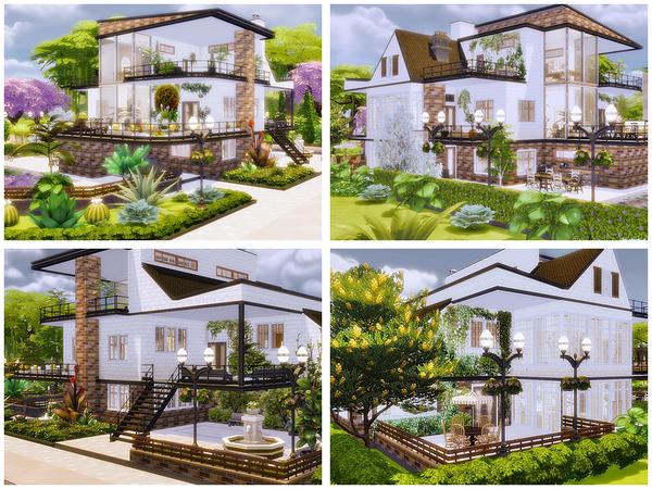 Sims 4 Linda modern house by Danuta720 at TSR