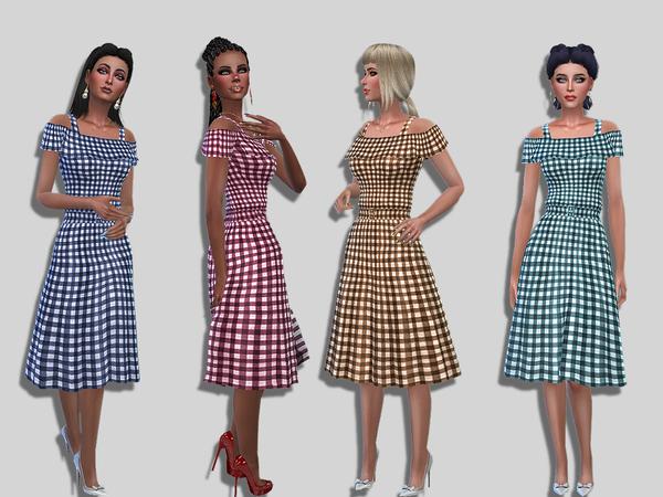 Vikki dress by Simalicious at TSR image 5100 Sims 4 Updates