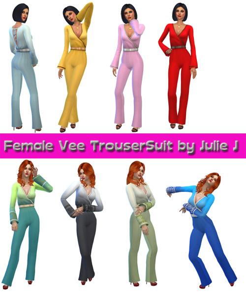 Female Vee Trouser Suit at Julietoon – Julie J image 51181 Sims 4 Updates